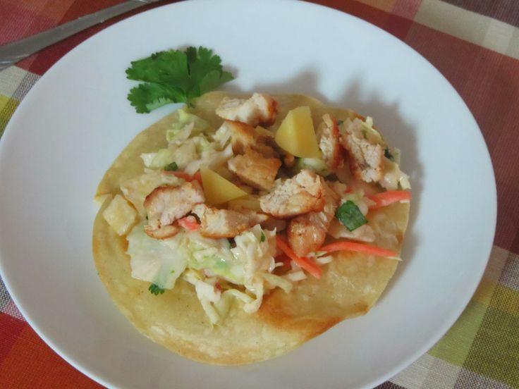 Chicken Tostadas w/chipotle mango slaw | Main Dishes | Pinterest