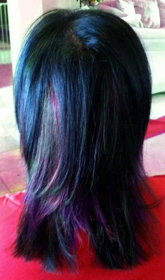 Purple Lowlights | Short Purple/Black Hair | Pinterest