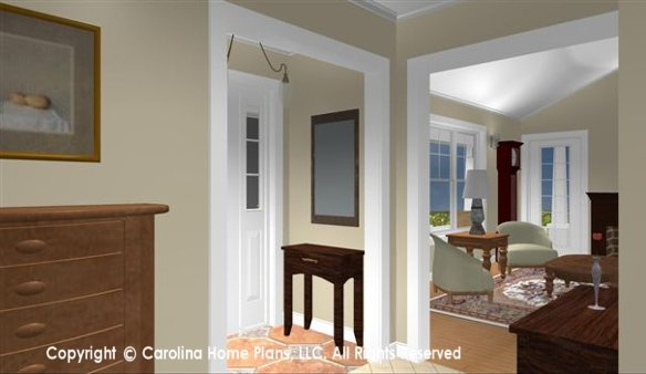 Small Retiree House Plan from Carolina Home Plans, SG-1016-AA