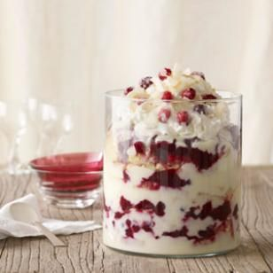 Cranberry coconut trifle