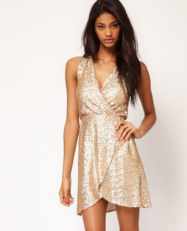 Holiday Dresses Gold 109