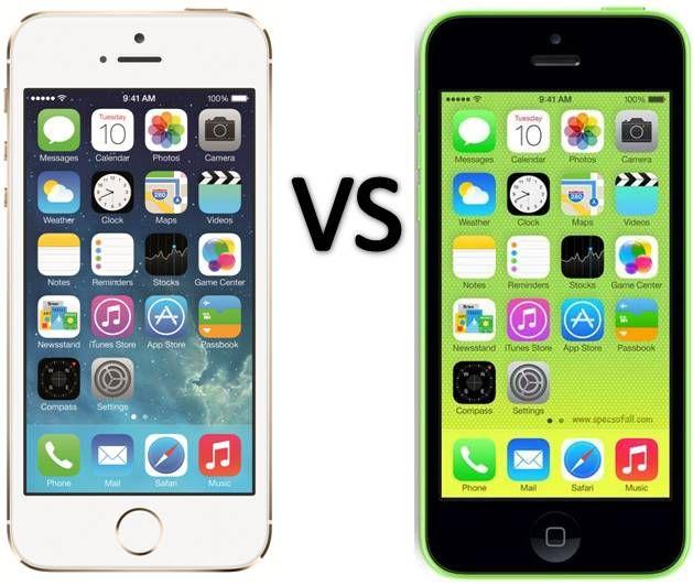Compare Iphone 5c Vs Iphone 5s
