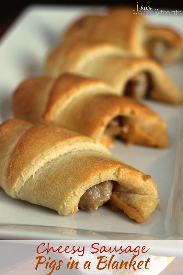 Sausage Pigs in a Blanket ~ Flaky Crescent Rolls Stuffed with Sausage ...