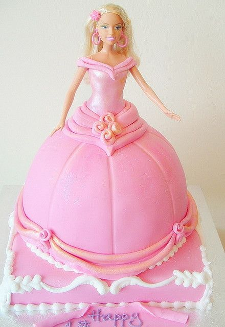 I had a Barbie Cake for my 3rd birthday; my baby Juliana will have one for hers! :)