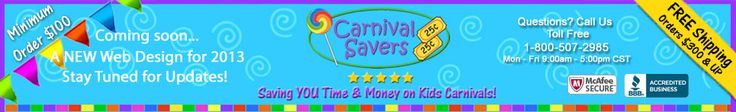 Carnival Supplies for Less - Free Game Ideas too!
