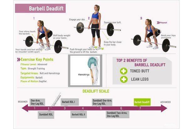 Barbell deadlift workouts pinterest