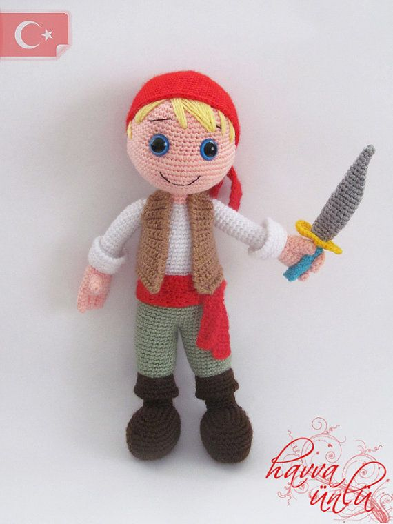 Crochet Doll Pattern Cute : Cute Pirate crochet dolls Pinterest