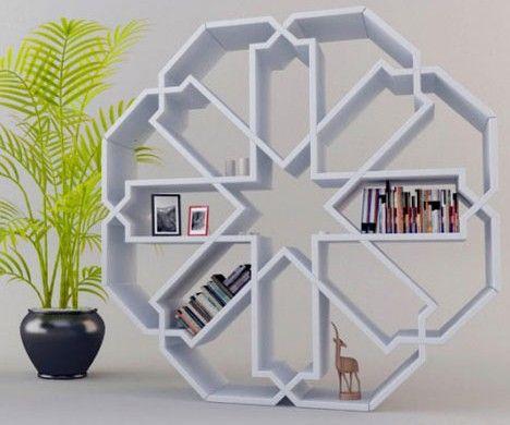 artsy display shelf