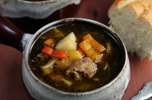 Sausage & Peppers Soup Recipe - On Sugar Mountain