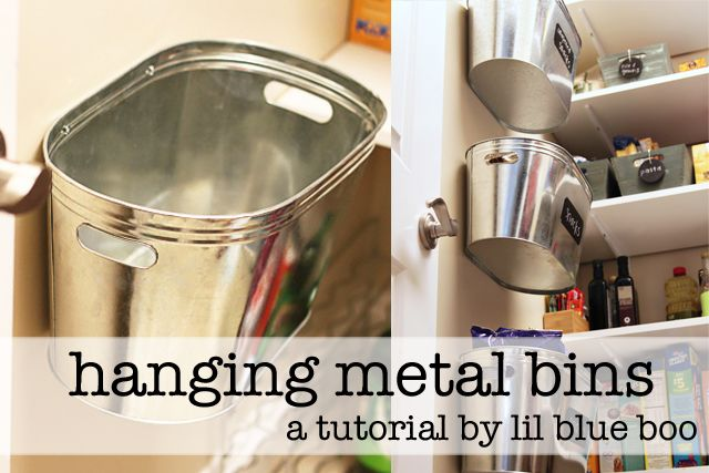 Hanging Metal Storage Bins (A Tutorial)