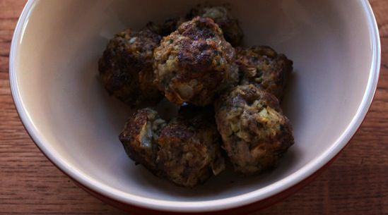 Beef Meatballs Recipe adapted from Michael Leviton, Area Four ...