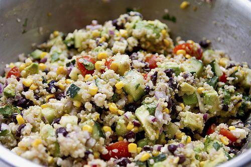 quinoa and grilled corn salad with cilantro vinaigrette.