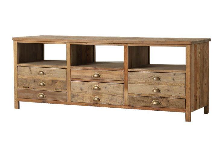 Elegant Rustic Media Cabinet For The Home Pinterest