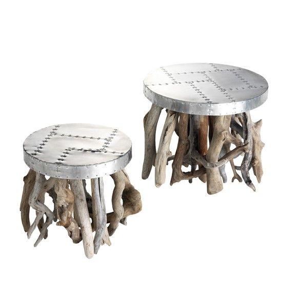 Tables basses en bois flott design furniture pinterest for Table basse bois flotte