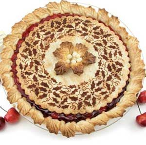 Stenciled Pies (cherry)