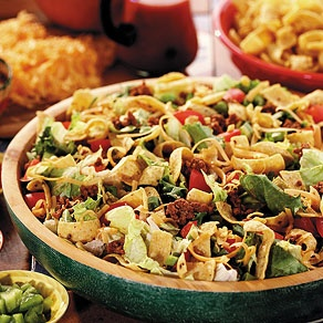 Crunchy Taco Salad. Whenever we saw her making this salad, we knew ...
