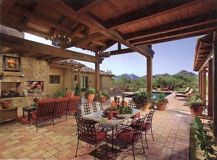 patio southwestern spanish design garden and beautiful