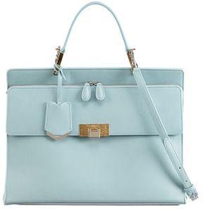 Balenciaga Le Dix Cartable Zip Satchel Bag, Blue on shopstyle