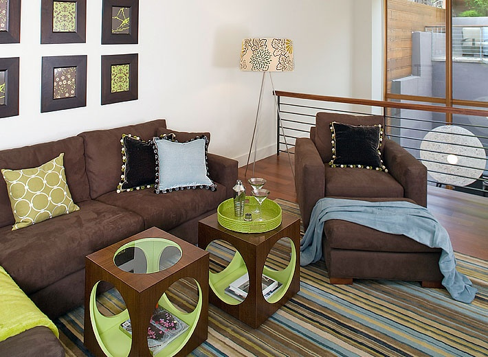 Chocolate Brown And Lime Home Decor Pinterest