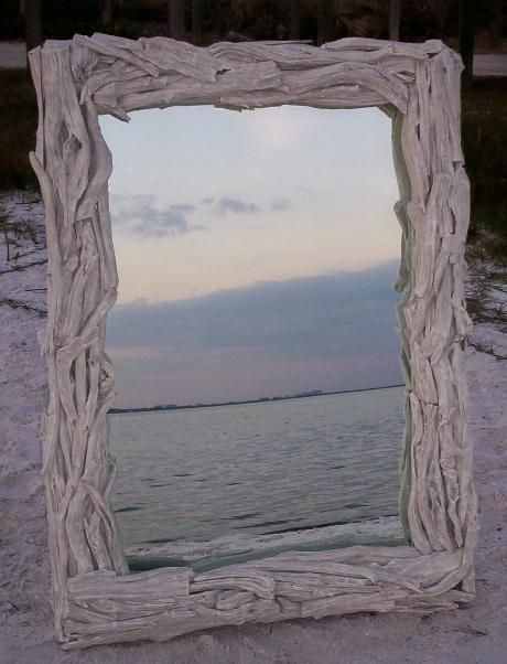 The driftwood mirror gallery is here! Any size and shape in driftwood ...