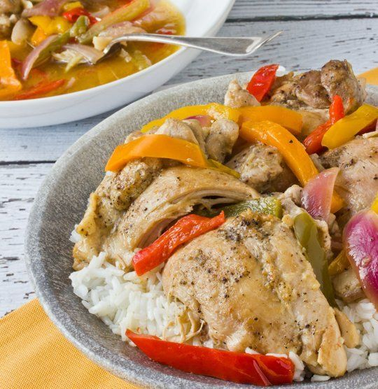 One-Pot Recipe: Braised Chicken Thighs with Bell Peppers and Onions ...