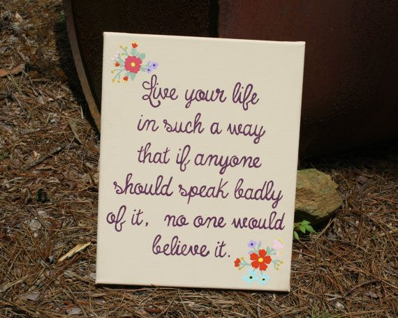 inspirational canvas quote art my shop country chick