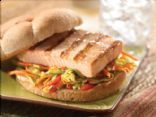 Classic Grilled Salmon Burgers with Sesame Ginger Slaw from Gorton's ...