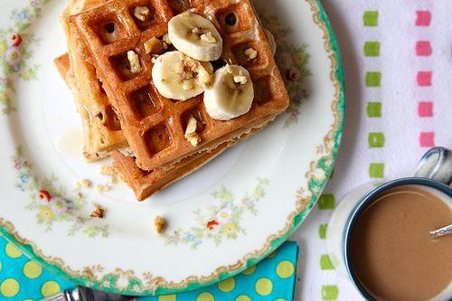 Banana Walnut Waffles | Breakfast, Biscuits & Breads | Pinterest