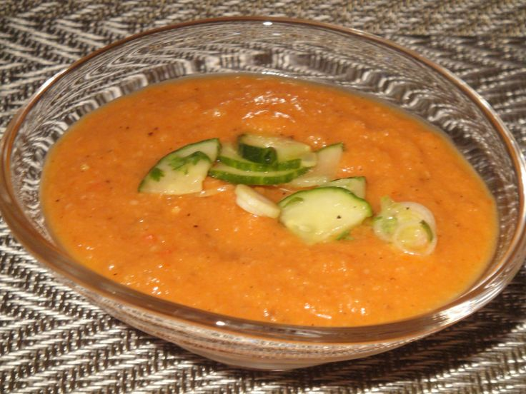 Grilled Vegetable Gazpacho from Cooking Light