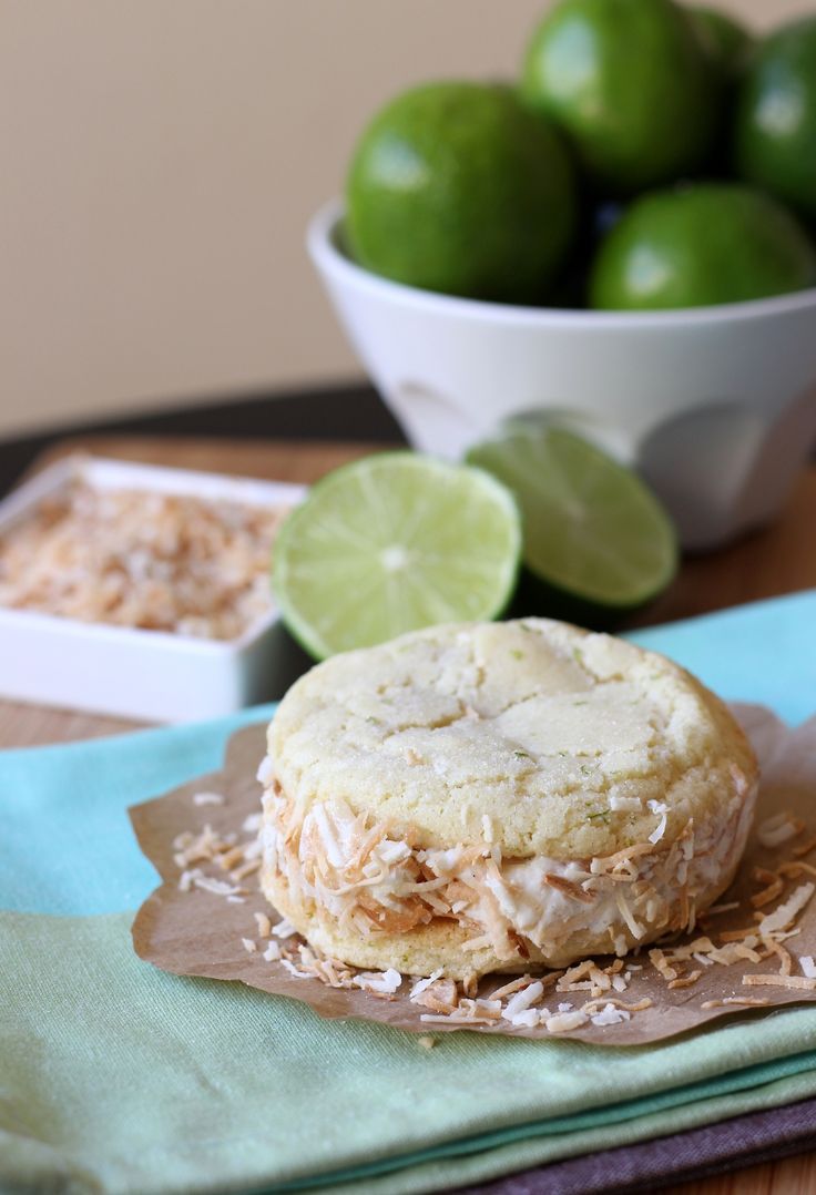 Coconut-Lime Ice Cream Sandwiches Coconut and lime create a winning ...