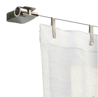 Tensor para cortina, 2007. #Diseño: Juan Kayser. Producción: Tensocable Chapa de acero estampada, hierro torneado.