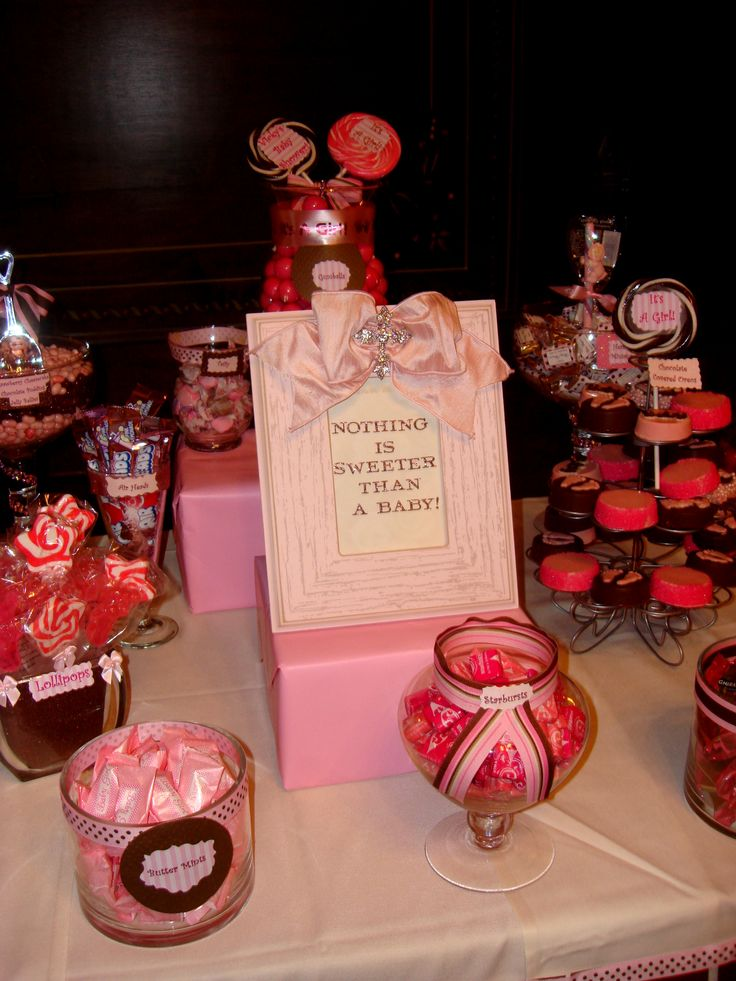 baby shower candy table girl baby shower candy buffet pinterest