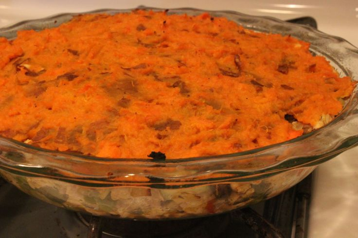 Sweet Potato and Ground Turkey Shepard's Pie - Absolutely delicious