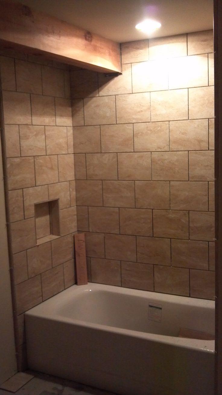 Ceramic Tile Tub Surround Bathroom Tubs Fixtures Pinterest