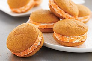 Pumpkin-Spiced Whoopie Pies with Ginger Cream recipe