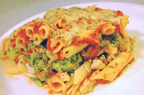 Baked chicken and zucchini penne. Hopefully I will have oodles of ...