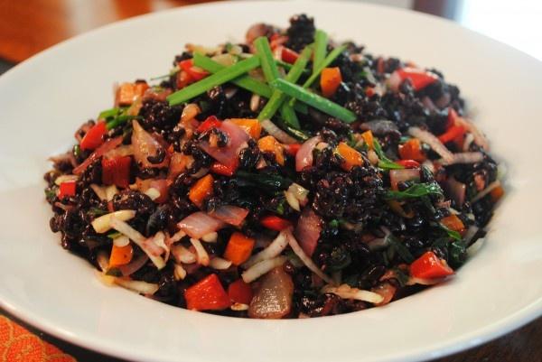 Thai Black Rice Salad | Asian Food | Pinterest