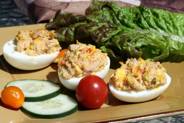 Tuna Deviled Eggs -carb free lunch | Healthy Yumminess! | Pinterest