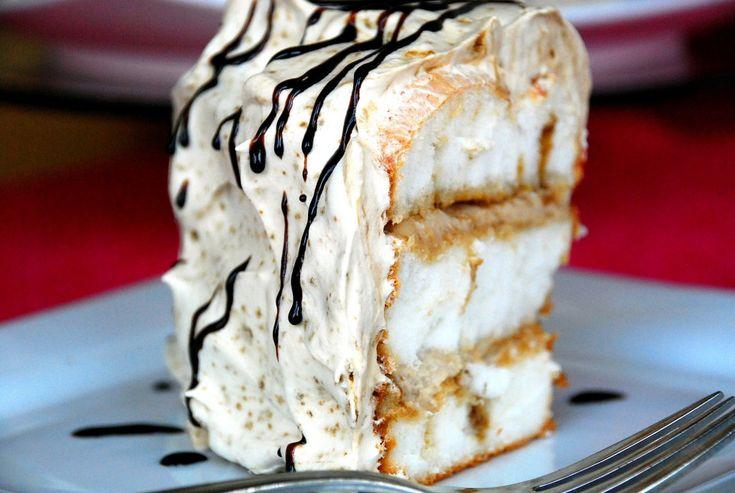 ... dessert that starts with pre-made angel food cake: Tiramisu Toffee