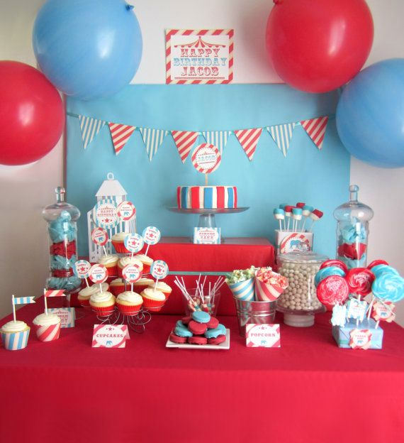 Spectacular Vintage Circus Party Package  Printable by yummypaper