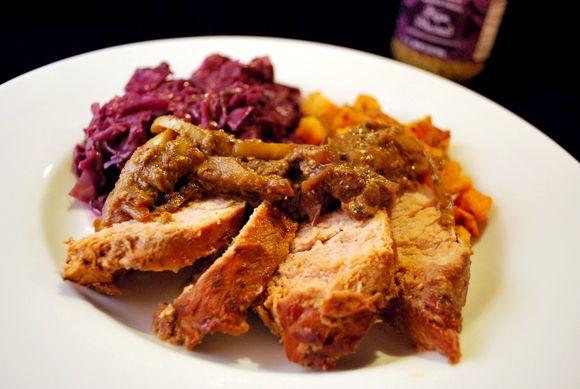 Beef Tenderloin With Shallot Mustard Sauce Recipe — Dishmaps