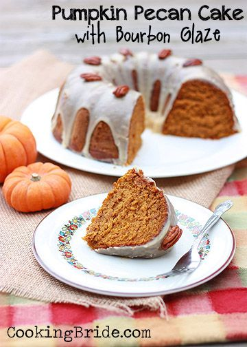 Pumpkin-Pecan Cake with Brown Sugar and Bourbon Glaze - CookingBride ...