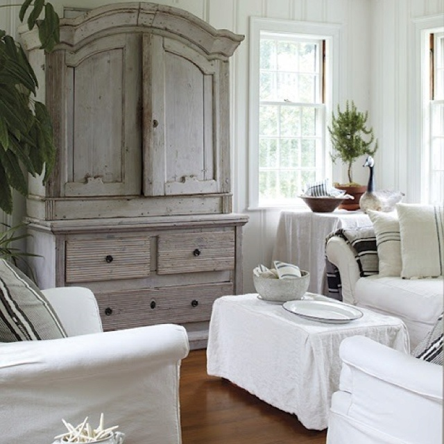 white grey armoire living room pinterest. Black Bedroom Furniture Sets. Home Design Ideas