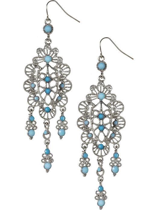 Old Navy Filigree Chandelier Earrings Jewelry