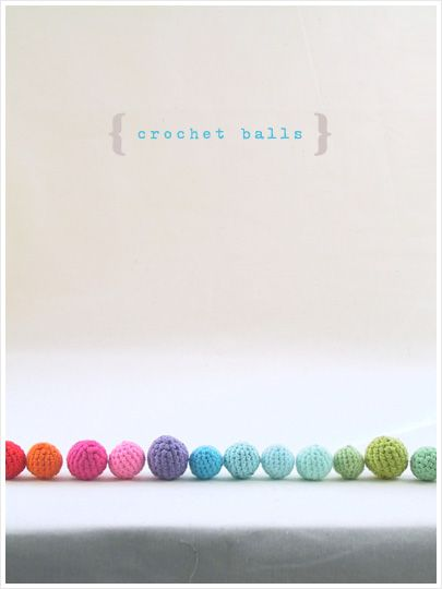 DIY Colourful Crochet Balls