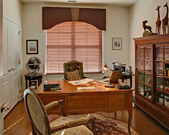 Window treatments...Home Office Masculine Design, Pictures, Remodel, Decor and Ideas - page 15