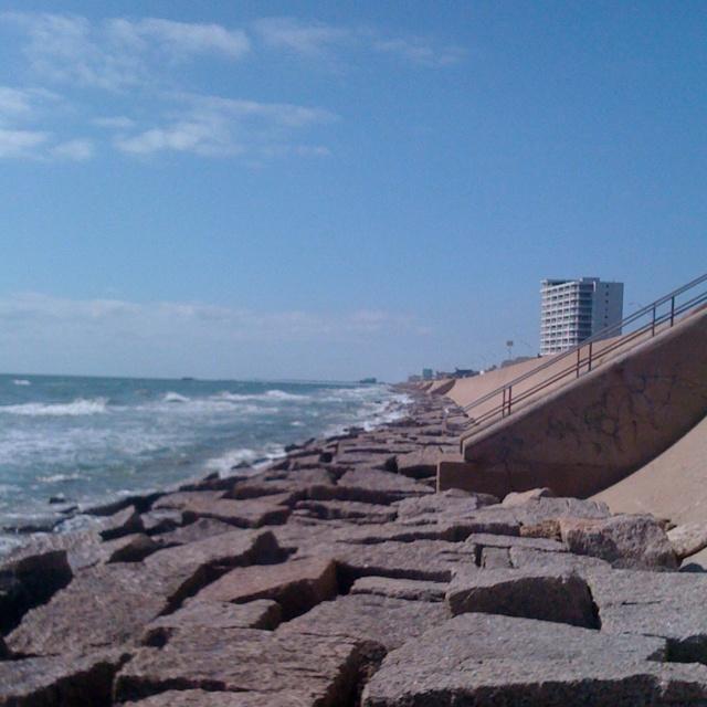 Granite Block Seawall : Galveston seawall huge granite blocks on my continent
