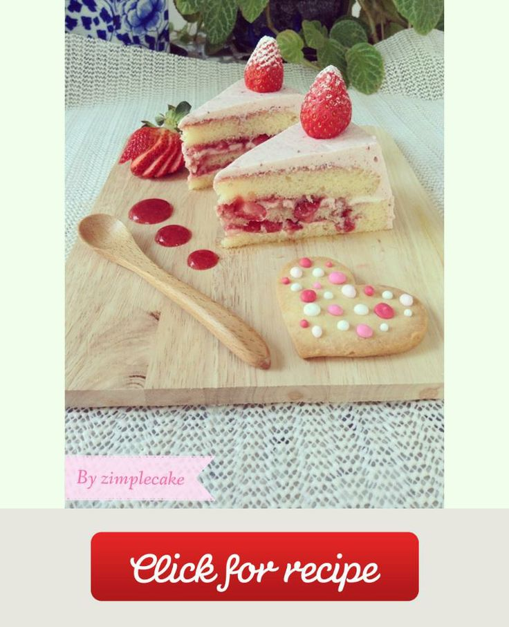Strawberry Milk Cake Recipe — Dishmaps