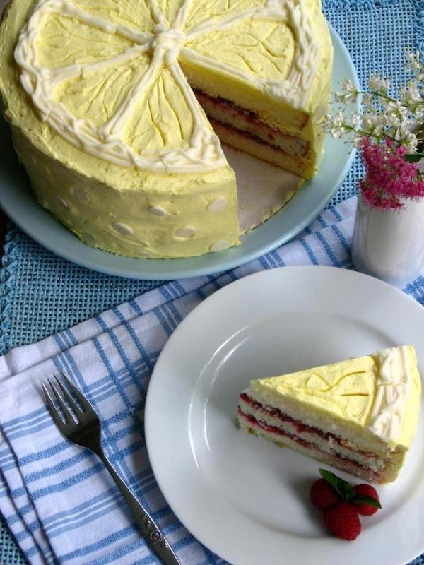 Lemon Raspberry Cake | cake and pie, my oh my | Pinterest