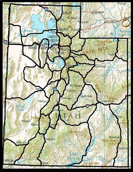 Utah Regions Map  Geography Mapping  Pinterest
